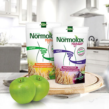 normolax - kreacja opakowania